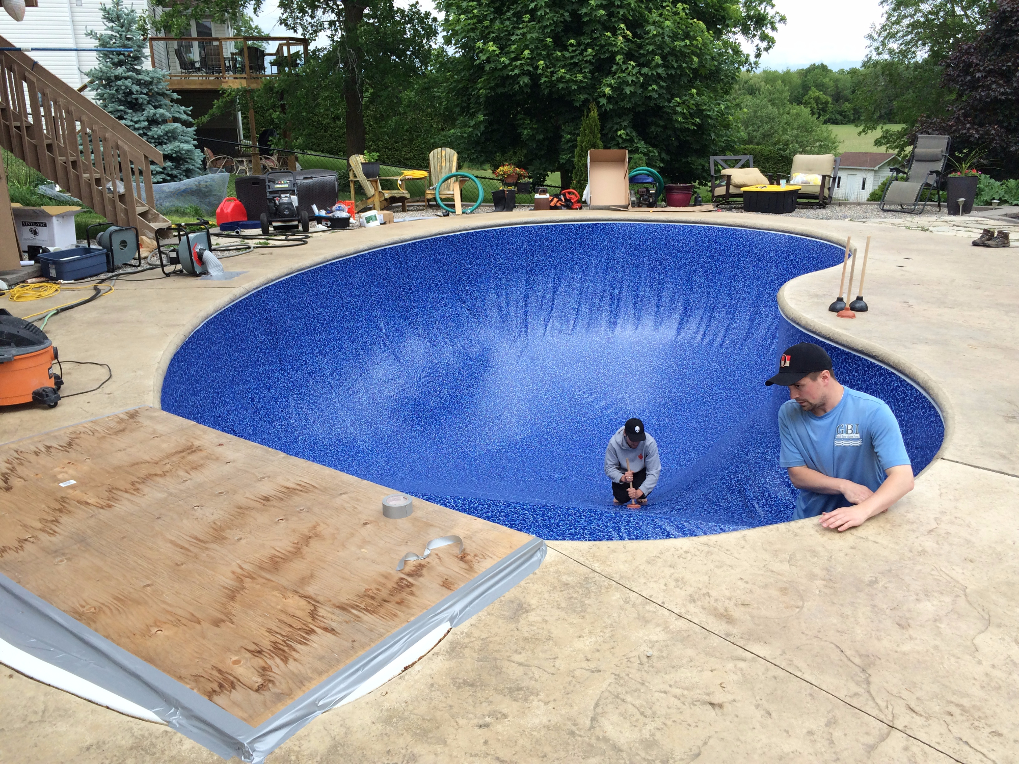 Pool liner replacement ottawa for Pool liner installation